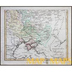 UKRAINE RUSSIA ANTIQUE MAP DES EUROPÄISCHEN RUSSLANDS WALCH 1812