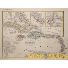 Antilles islands cuba jamaica bahamas haiti original old map heck antilles islands cuba jamaica bahamas haiti original old map heck 1842 gumiabroncs Image collections