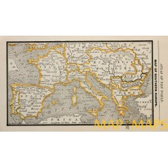 Old map Map of Southern Europe Turkey in Europe  Anonymous c.1900