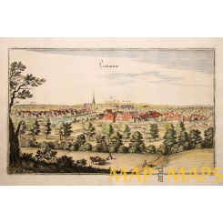 Liebenau Weser antique engraving Germany by Merian 1654