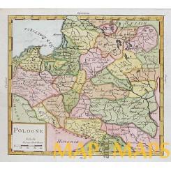 ANTIQUE MAP POLAND PRUSSIA POLOGNE VAUGONDY 1756