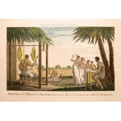 Moluccas habits Indonesia by Byron print Moore 1780