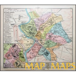 Antique map Rome Italy Town plan Atlas antiques by Justus Perthes 1893