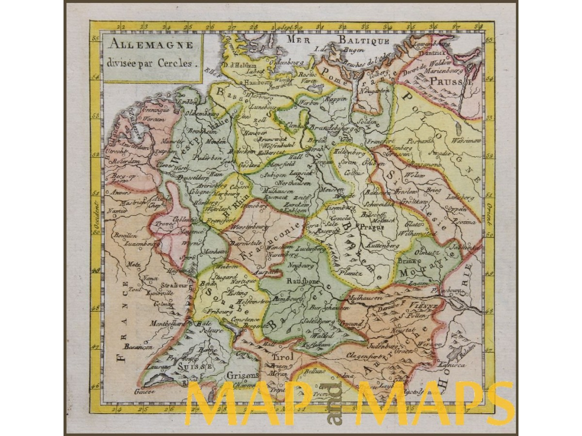 Germany switzerland poland by buffier claude 1769 mapandmaps antique map germany switzerland poland by buffier claude 1769 loading zoom gumiabroncs Image collections