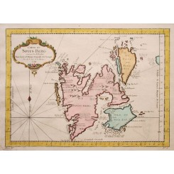 Svalbard/Spitsbergen original antique map Bellin 1758