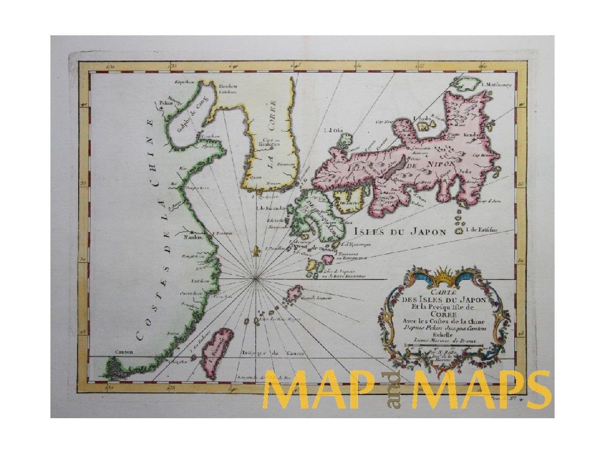 Carte des isles du japon et la presqu bellin mapandmaps old map japan carte des isles du japon taiwan peninsula of korea by bellin 1752 loading zoom gumiabroncs Gallery