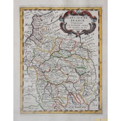 Antique map of ancient North France regions by Philip Briet 1648.