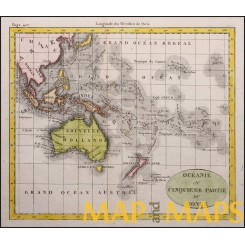 Oceania Australia Nouvelle Hollande Old Map N. de Fer. 1774