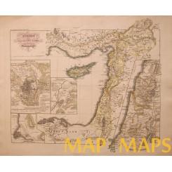 Syrien und angrenzenden Laender Holy land Poppey 1840