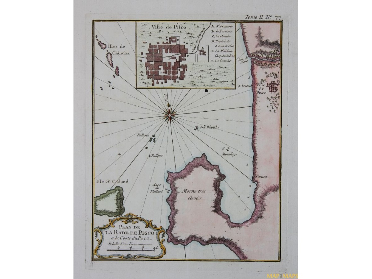 Pisco peru antique map plan de la rade de pisco bellin 1758 map pisco peru antique map plan de la rade de pisco bellin 1758 publicscrutiny Choice Image