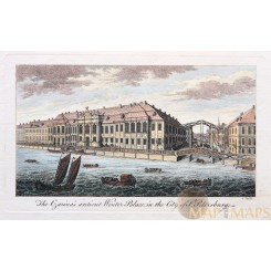 Antique print - Winter Palace in the City of St. Petersburg anonymous 1768