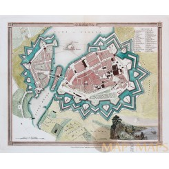 Geneva Switzerland Antique plan Lake of Geneva by ORR & SMITH