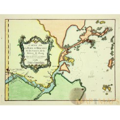 CARTE DE LA BAYE D'HOCSIEU Old map Yangtze River China BELLIN 1764