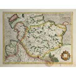 HOLSATIA DUCATUS Old map Schleswig Holstein Germany Mercator 1590