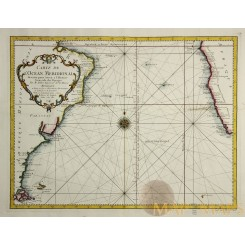 Carte de L'Ocean Meridional Antique map Atlantic Ocean BELLIN 1746