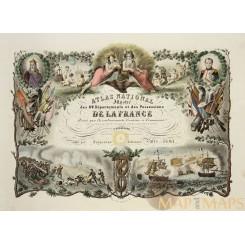 Title page Atlas National Illustré des 89 Départements Antique print LEVASSEUR 1861