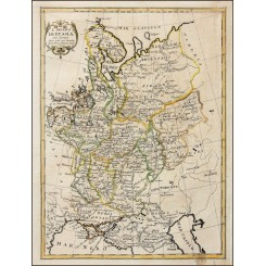 Russia Latvia map L'impero Di Russia by Pazzini Carli 1789