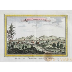 Gezigt van Peking Old engraving Beijing China Bellin 1752