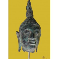 Antique Thai Buddha Head in the style of the Sukhothai period