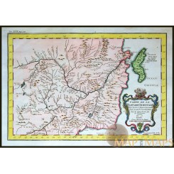 Carte de la Tartarie Orientale Russia China Bellin map 1748