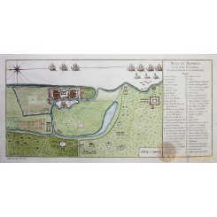 FORT ST. GEORGE ANTIQUE MAP PLAN DE MADRAS ET DU FORT ST. GEORGES BELLIN 1758