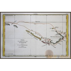 New Guinea Old map Voyage Captn. Dampier Philippe 1787