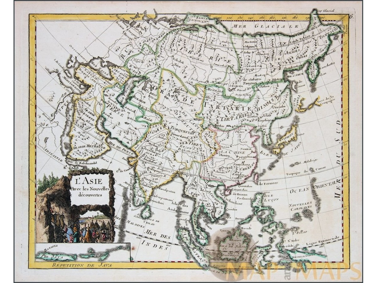 Asia with new discoveries lasie old map le rouge mm antique map asia l asie persia china japan antique map le rouge 1756 loading zoom publicscrutiny Gallery