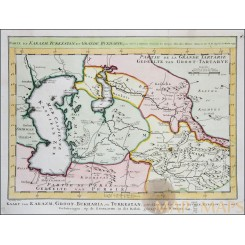 Carte de Karazm Turkestan Old map Asia Bellin 1749
