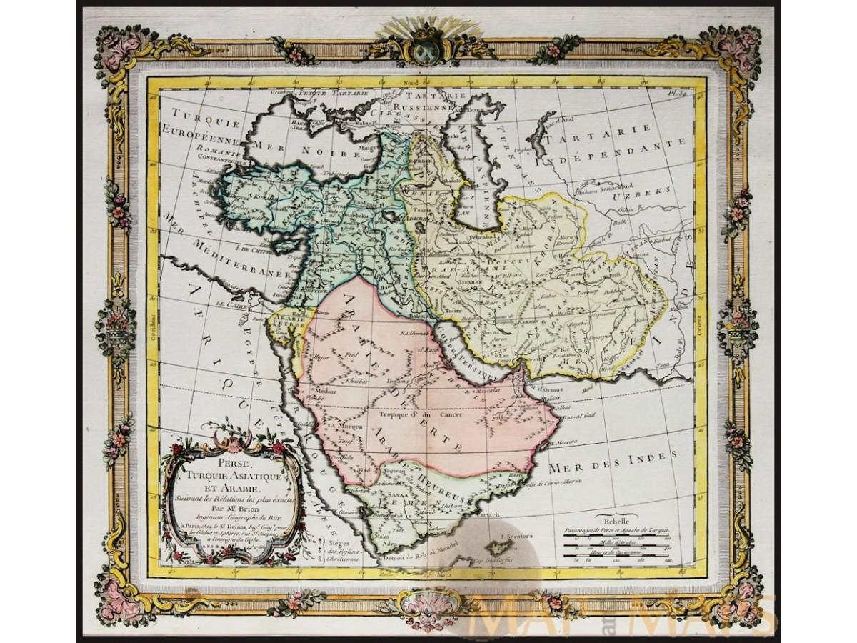 Perse Turquie Asiantique et Arabie. de la Tour Desnos 1766