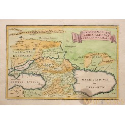 Caspian Sea Black Sea Old map Russia Ukraine Eastern Europe Cellarius 1771
