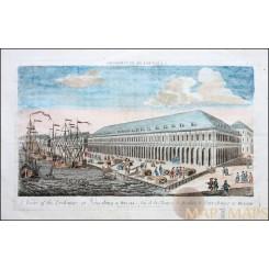 Exchange at Petersburg in Russia Old print Saint Petersburg 1755