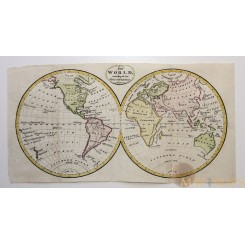 Double-hemisphere World antique map included the late discoveries Anonymous 1780