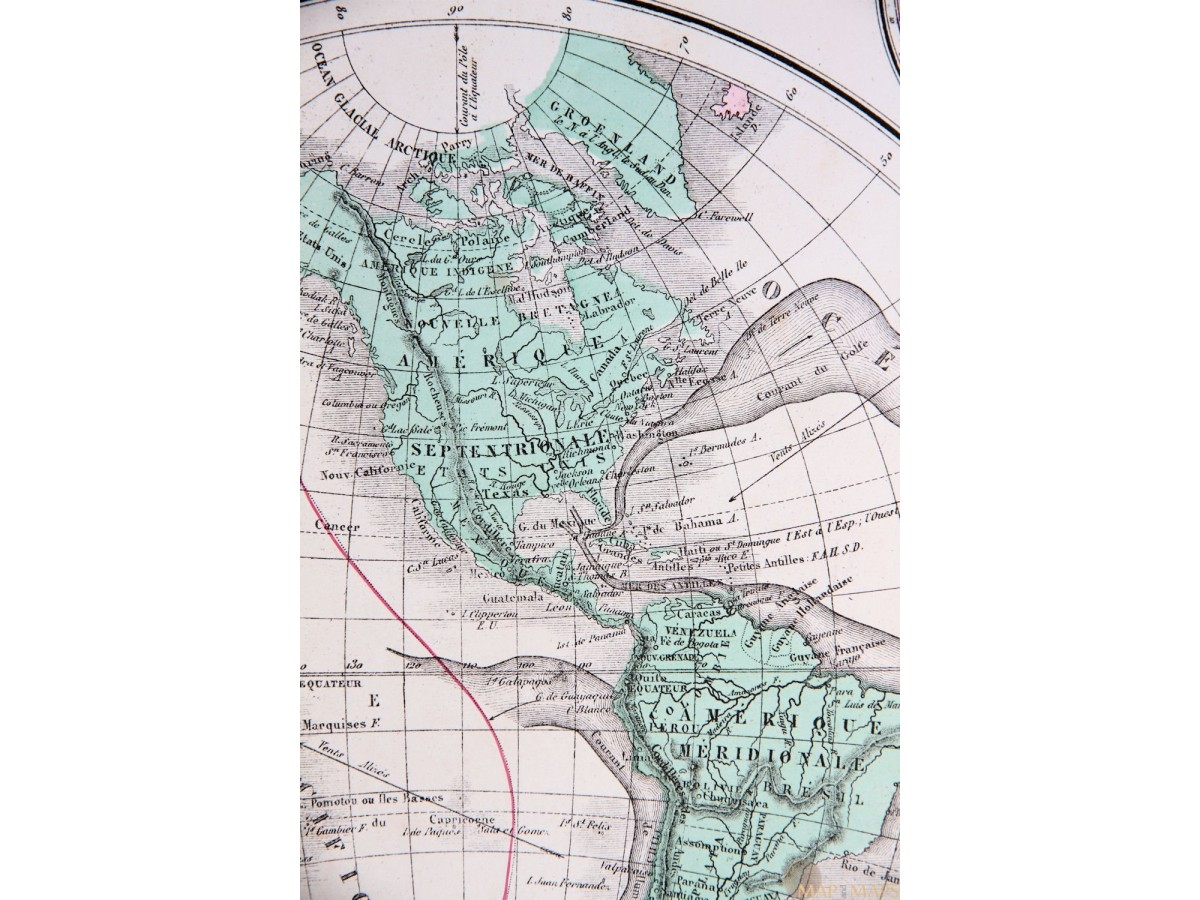 Mappe monde world map north pole and antarctica eugene belin mappe monde world map north pole and antarctica eugene belin 1890 gumiabroncs Gallery