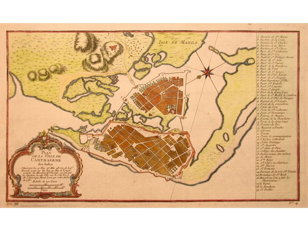 Cartagena De Indias Colombia Bellin Mapandmaps - Cartagena de indias map