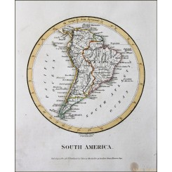 SOUTH AMERICA ANTIQUE MAP AMAZONE BRAZIL ANTIQUE MAP 1800