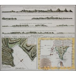 Captain Cook old map Plan de la Baye du Bon Bonne 1773