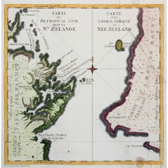 Carte du Detroit de Cook New Zealand Strait Cook Hawkesworth 1774