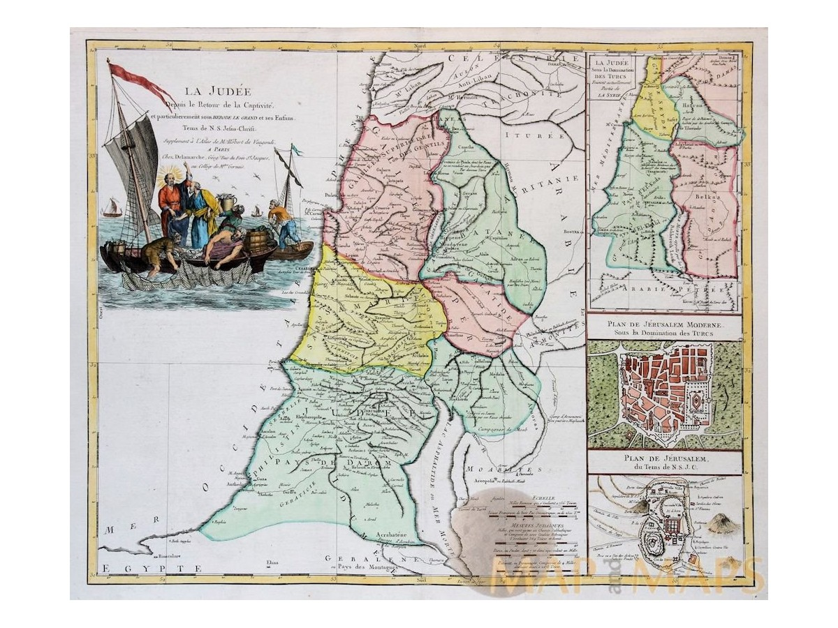 La judee depuis old map israel holy land mapandmaps la judee depuis old map israel holy land vaugondy 1757 loading zoom gumiabroncs Images