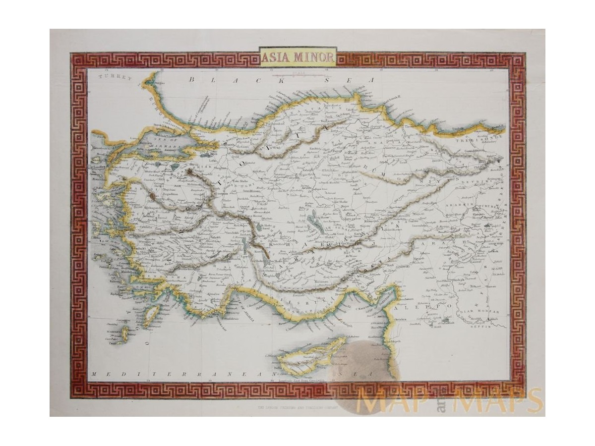 Asia minor the ancient world old map turkey rapkin 1850 publicscrutiny Gallery