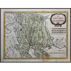 MACEDONIA, CENTRAL EUROPE HISTORY, ANTIQUE MAP BY VON REILLY 1791.