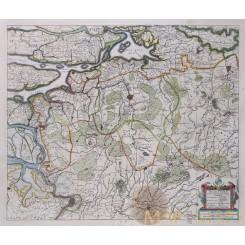 Brabant Holland Antique Map Brabantiae Janssonius 1638