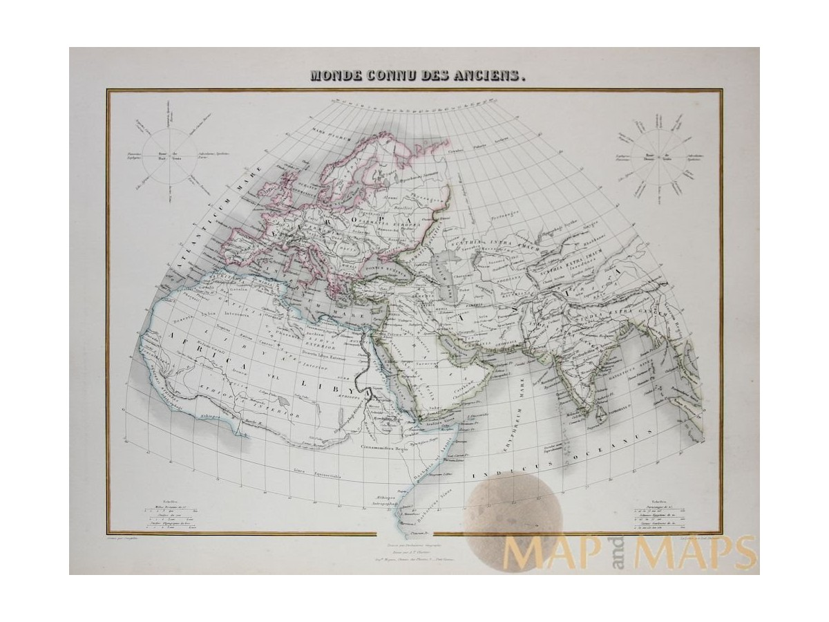 World map europe asia africa by migeon 1884 mapandmaps the old world antique map europe asia africa by migeon 1884 loading zoom gumiabroncs Image collections