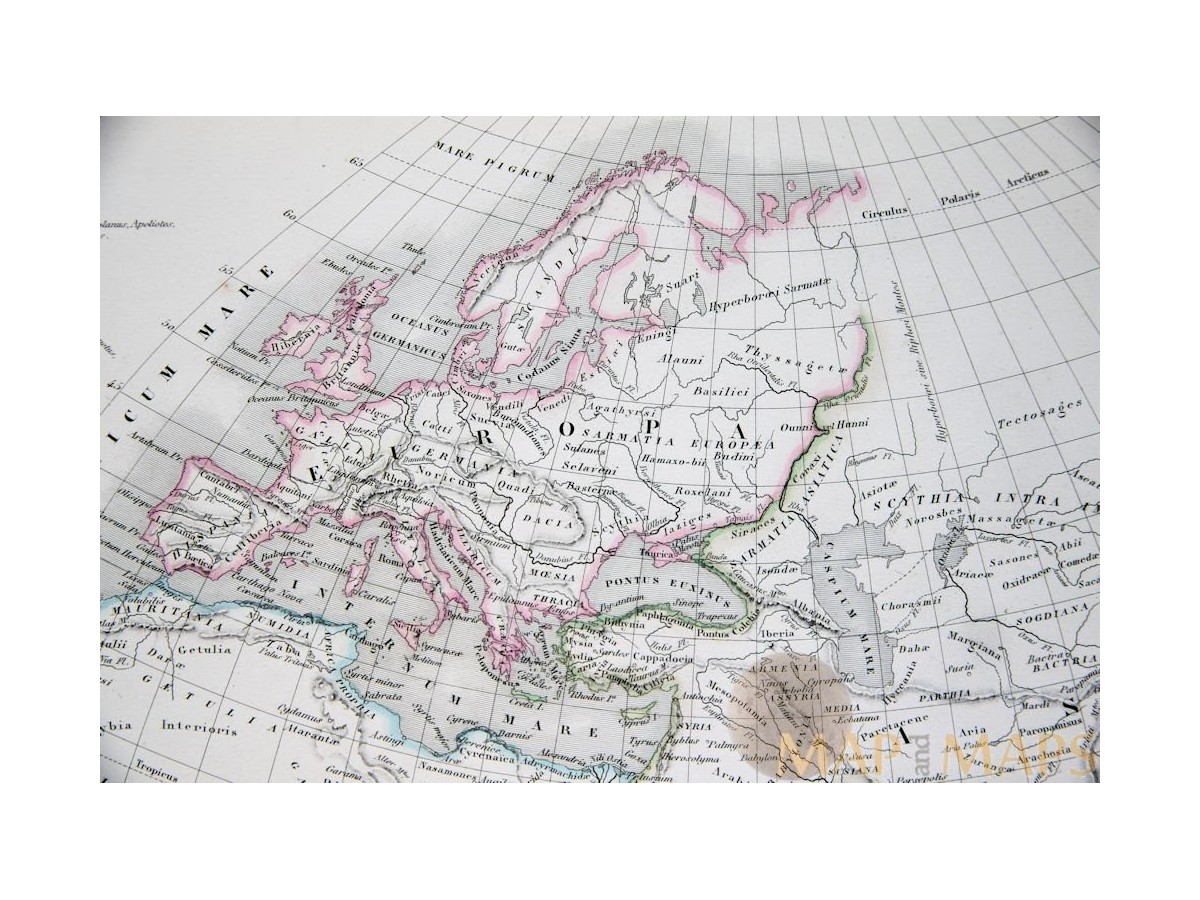 World map europe asia africa by migeon 1884 mapandmaps the old world antique map europe asia africa by migeon 1884 gumiabroncs Choice Image