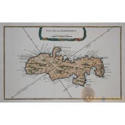 Isle de la Martinique. antique map by Bellin 1764