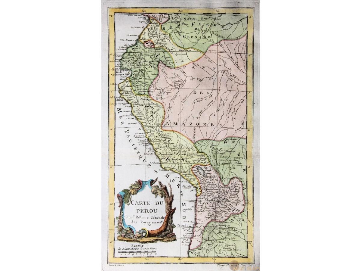 Maps of peru carte du prou old map peru by bellin mm antique map peru south america carte du prou old engraving by bellin 1758 loading zoom gumiabroncs Gallery