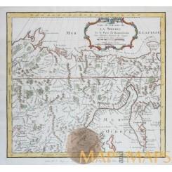 Carte de la Sibérie... | Siberia Kamchatka map Bellin 1747