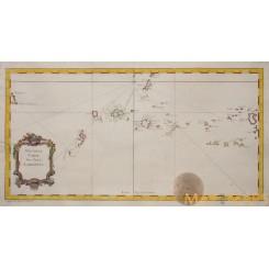 Nouvelle Carte des Isles Carolines Caroline Atoll Bellin 1746