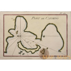 Port de Carmino Mediteranian Sea chart by Roux 1764