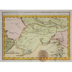 Central Asia Petite Bukharie Turpan Old map Bellin 1750