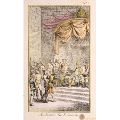 Audition de Samorin Old print Indian Samorin Bellin 1750